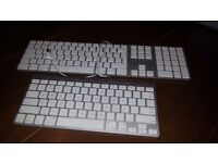 1 X WIRELESS AND 1 X WIRED ORIGINAL APPLE KEYBOARDS