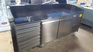 7 FT REFRIGERATED GRANITE WORK TOP TABLE