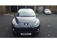 Peugeot 207. 2011. 1 year MOT. Diesel 1.6L. 3 Keys