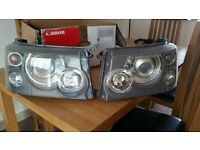 Genuine Range Rover Sport Xenon Front Headlights 2005-2009 Complete Ballasts & Bulbs