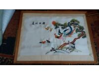 Silk embroidered picture brought back grom Hong Kong