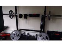 GYMANO COMBO SQUAT RACK + OLYMPIC BARBELL + DUMBBELLS + BENCH