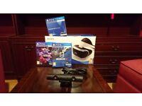 PSVR HEADSET bundled with camera v2 and games