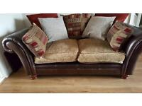 Leather/ Fabric 2 and 3 seat sofa (inc. sofa bed) (DFS Perez)