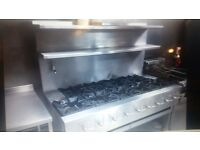 9 burner comercial cooker LPG