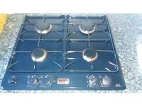 Stoves blue built under gas cooker, hob and hood.