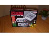 (2 x consoles) SNES + NES Mini consoles! 250+ games on each! Mint condition!