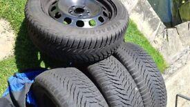 4 Winter Tyres + steel wheels