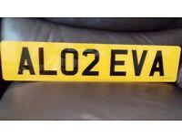 AL02 EVA Private reg plate