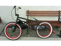 Black and red Mafia bmx bike