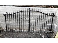 WROUGHT IRON DOUBLE AND SINGLE GATES