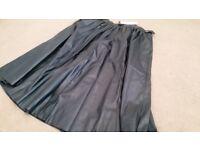 Zara ladies black leather skirt. Brand new