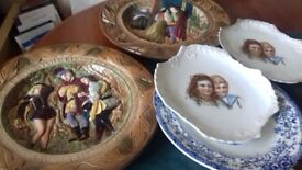 Lovely decorative plates,some quite old ,all are interesting and colourful.