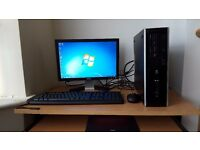 Fast Complete HP PC Wifi Windows 7 Office Dual Core Processor 4GB RAM 500GB HDD