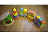 Bundle of wooden toddler toys