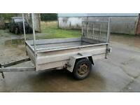 6ft 8 X 4 2 single axle trailer ramp back door galvanised Cookstown