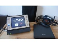 "Sony Vaio VGN-U750P UMPC - Mini Tablet PC - DVD Drive - Case - Dock - Intel Pentium - 5"" - Rare!"