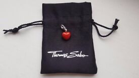 Genuine Thomas Sabo 3D-Red Love Heart Charm NEW
