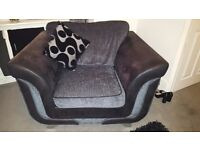 3piece dfs sofa black and silver