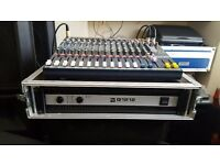 Soundcraft Efx12 mixer and ev q1212 power amp