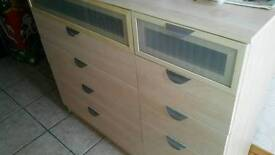 Large and Small set of drawers