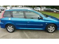 PEUGEOT 206 1.4 HDI VERVE ESTATE 1 OWNER FROM NEW FULL SERVICE HISTORY FREE 6 MONTHS WARRANTY
