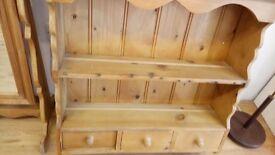 Pine wall dresser £55