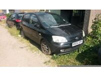 Breaking Hyundai Getz 1.3 Automatic for Spare parts only