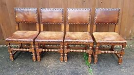 Antique Cromwellian style Chairs for restoration