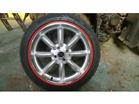 "Mini ROTA RB 17"" Alloy wheels and tyres"