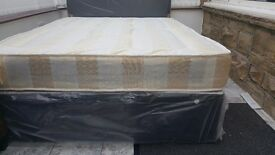 NEW DOUBLE OR SMALL DOUBLE DIVAN BED WITH BINGLEY MATTRESS