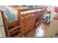 Solid Pine Mid Sleeper Cabin bed