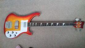 Rocktile RB400 Redneck Bass Sunburst Ricky 4003 style