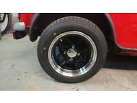 Classic Mini 12x6 Inch Mamba Alloy Wheels with Tyres - As New Condition