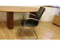 High Quality Boardroom table with six Leather chairs
