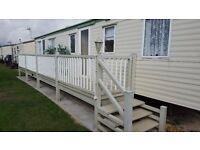 Caravan to rent 3 beds 6/8 birth ingoldmells/skegness across from beach 5 mins fantasy island