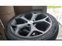 "18"" matt black ford ST type alloys with tyres only done 1000 miles"