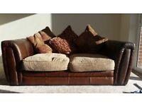 3+2 seater furniture village sofa set