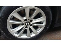 BMW 17 INCH ALLOYS AND NEARLY NEW TYRES EXC CONDITION