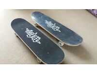 Pair of skateboards