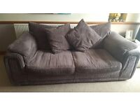 2 x DFS Taupe 2 & 3 Seater Sofa