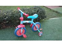 Thomas & Friends 2 in 1 10 Inch Trainer Bike. Pedal toy or balance bike