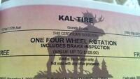 Coupons for kal tire and more!