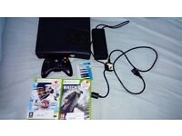Xbox 360S 250GB slim with 2 games