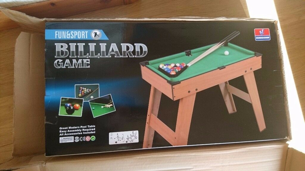 Kids Mini Pool Table (brand new in box)