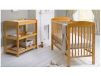Mamas and papas cot and changing table