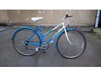 Ladies Emmelle Explorer classic Hybrid blue & white bicycle ** Bristol Upcycles ** town city bike