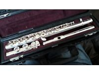 Yamaha 471 Solid Silver Flute Body with Handmade Michael Allen Head
