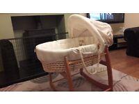 Mamas and Papas moses basket and rocking stand