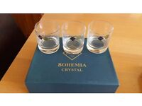6 x Bohemia Crystal glasses. Tumblers. New. Boxed. REDUCED. £15